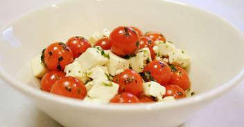 トマトとお豆腐のサラダ