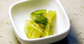 ブロッコリーの茎のしょうが味噌和え