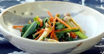 小松菜とエリンギのナムル