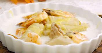山芋と根菜のクリーム煮