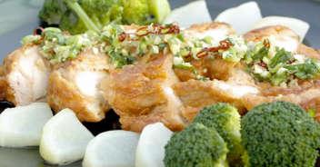 鶏から揚げの香りソース ゆで野菜添え