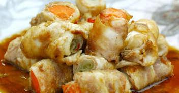 野菜の豚バラ巻