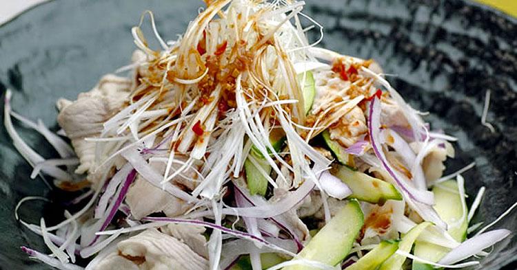 豚肉のおかずサラダ