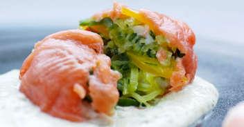 夏野菜のスモークサーモン包み