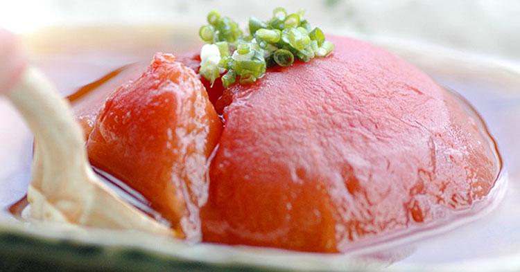 まんまるトマトの冷たいスープ