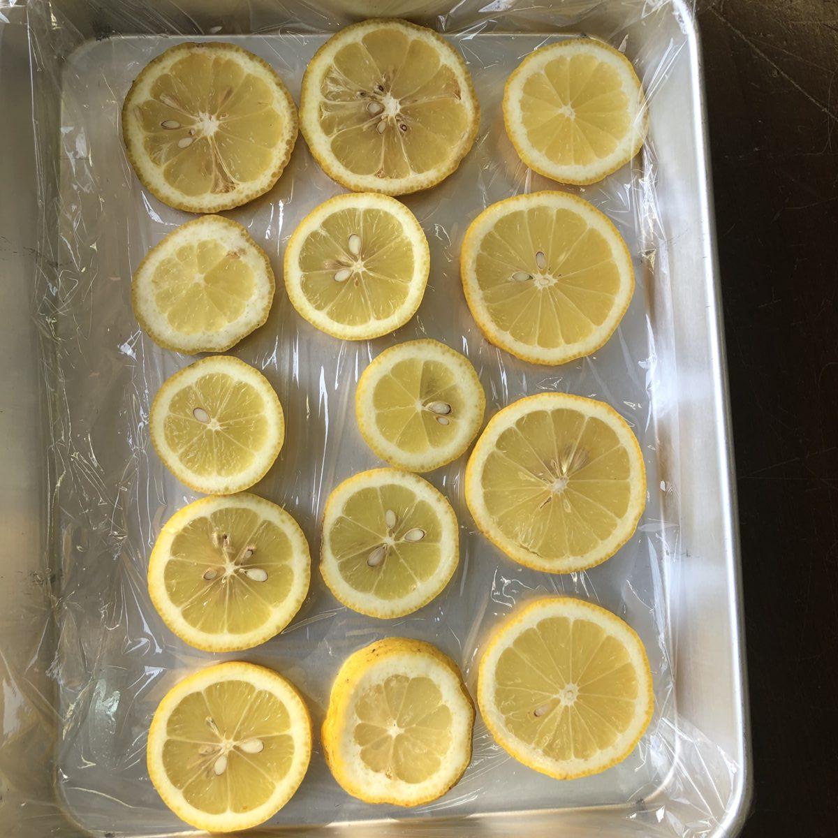 レモンは冷凍で保管しよう