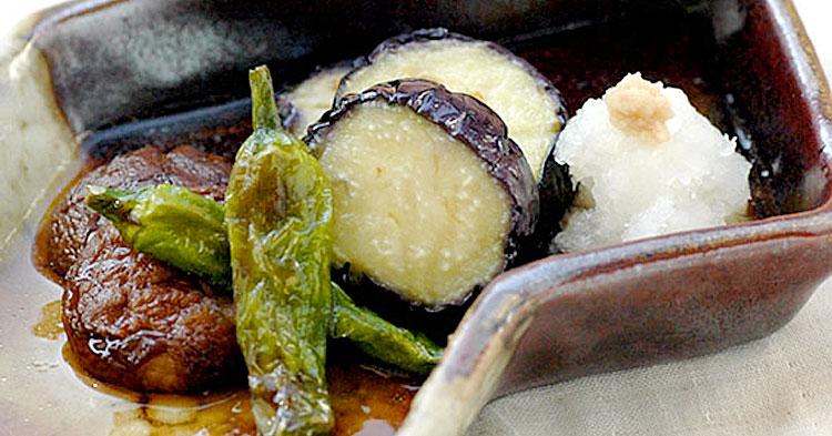 野菜のおろし素揚げ