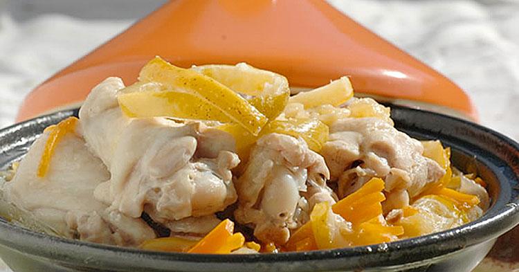 シトロンコンフィ入 モロッコ風鶏の煮込み