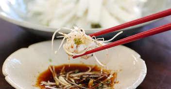 長ねぎとイカの中華風サラダ