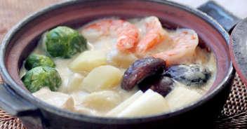 冬野菜の白味噌豆乳仕立てのシチュー