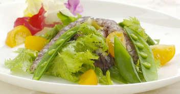 シャコと季節の野菜のサラダ仕立て