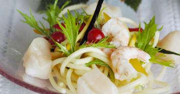 ナンプラー風味の冷たい海鮮パスタ