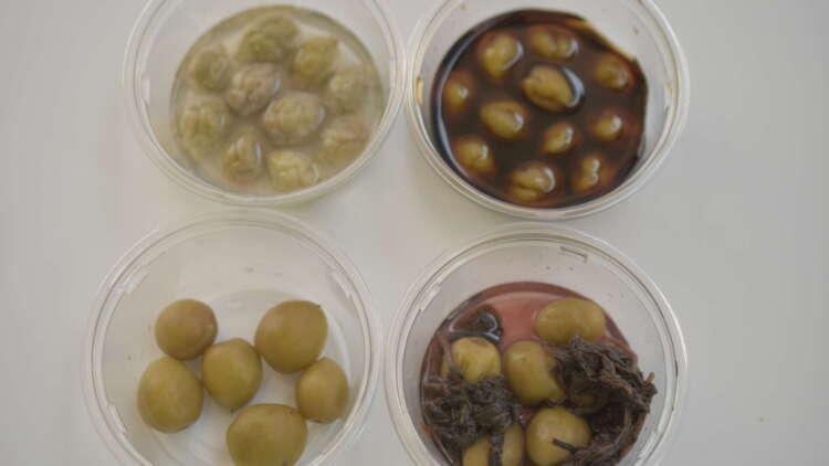 4種類のカリカリ梅